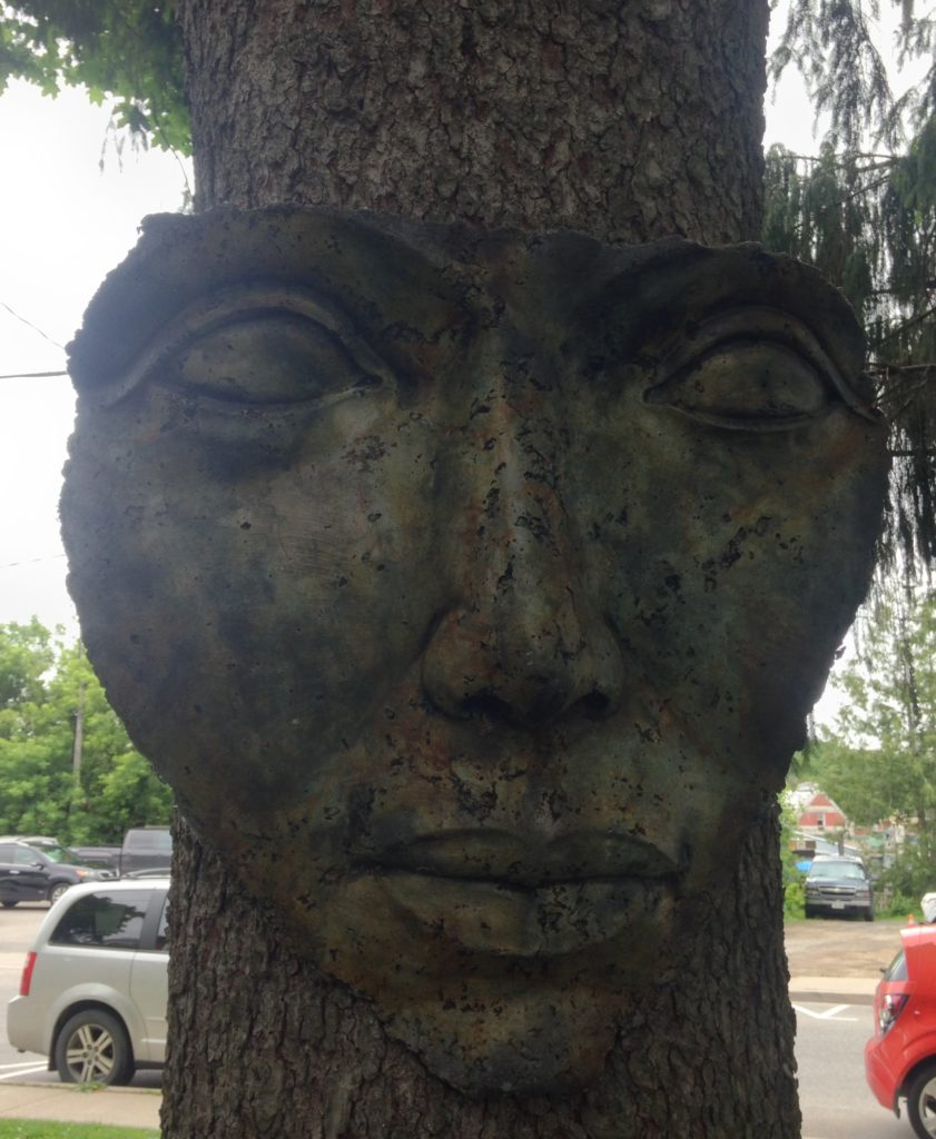 Garden Art- Tree Face